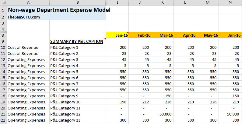 Expense by P&L Category